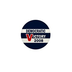 Democratic Victory 2008 Mini Button (10 pack)