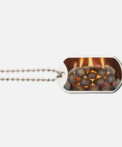 Domestic gas fire Dog Tags