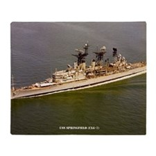 uss springfield large framed print Throw Blanket