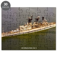 uss springfield large framed print Puzzle
