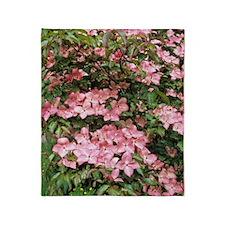 Dogwood (Cornus florida 'Sweetwater' Throw Blanket