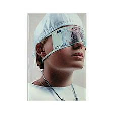 Doctor blinded by money, conceptu Rectangle Magnet