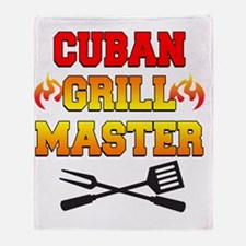 Cuban Grill Master Apron Throw Blanket