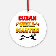 Cuban Grill Master Apron Round Ornament