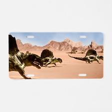 Dimetrodons, artwork Aluminum License Plate