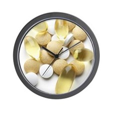 Dietary supplements Wall Clock