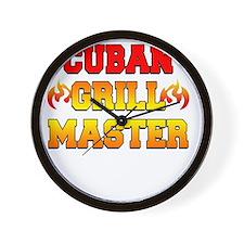 Cuban Grill Master Dark Apron Wall Clock