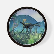 Dilophosaurus, artwork Wall Clock