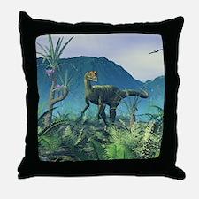 Dilophosaurus, artwork Throw Pillow