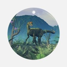 Dilophosaurus, artwork Round Ornament