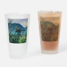 Dilophosaurus, artwork Drinking Glass