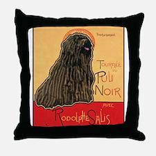 Tournee du Puli Noir Throw Pillow