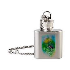 Digital world, conceptual artwork Flask Necklace