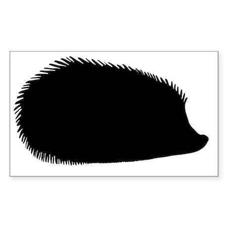 Hedgehog Silhouette Sticker (Rectangle)