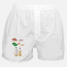 Dietary sources of fat, artwork Boxer Shorts