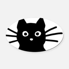 Black Cat Hitch Cover Oval Car Magnet