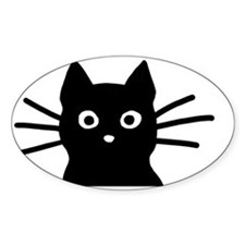Black Cat Hitch Cover Decal