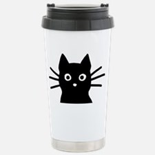 Black Cat Hitch Cover Stainless Steel Travel Mug