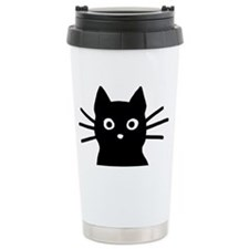 Black Cat Hitch Cover Travel Mug