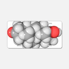 DHT hormone, molecular mode Aluminum License Plate
