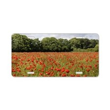 Poppy Field Aluminum License Plate