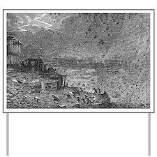 Destruction of Pompeii, artwork Yard Sign