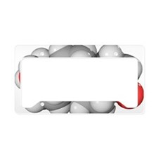 DHEA hormone, molecular model License Plate Holder
