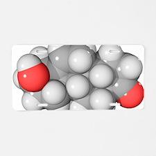DHEA hormone, molecular mod Aluminum License Plate