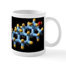 DHT hormone, molecular model Mug