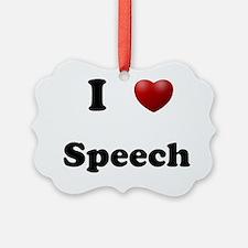 Speech Ornament
