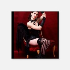 "Burlesque, Card Square Sticker 3"" x 3"""