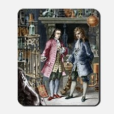 Denis Papin and Robert Boyle, engraving Mousepad