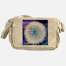 Dandelion seed head Messenger Bag