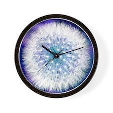 Dandelion seed head Wall Clock