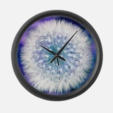Dandelion seed head Large Wall Clock