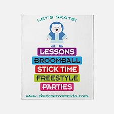 Lets Skate Frosty Bear Throw Blanket