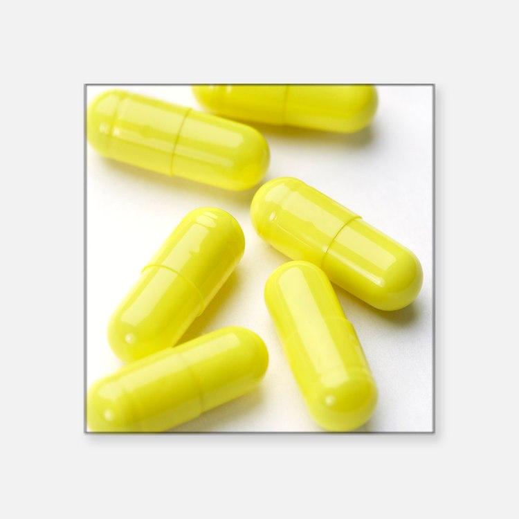 """Decongestant capsules Square Sticker 3"""" x 3"""""""