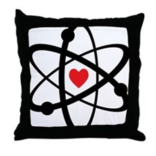 For the Love of Science Throw Pillow