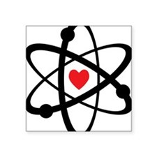 "For the Love of Science Square Sticker 3"" x 3"""