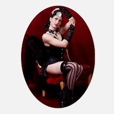 Burlesque Oval Ornament