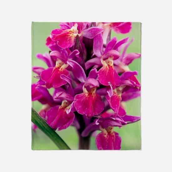 Dactylorhiza sambucina orchid Throw Blanket