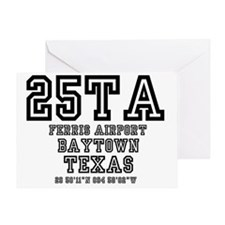 TEXAS - AIRPORT CODES - 25TA - FERRI Greeting Card
