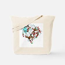 Cytochrome P450 protein, molecular model Tote Bag
