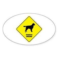 Stabyhoun Crossing Oval Decal
