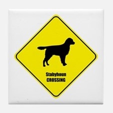 Stabyhoun Crossing Tile Coaster
