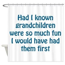 fun grandchildren Shower Curtain