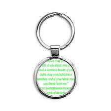 SOI Motto Round Keychain