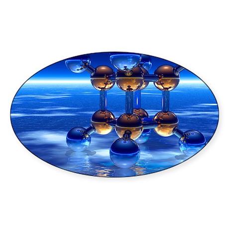 Cubane molecule Sticker (Oval)