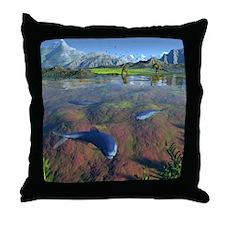 Creataceous animals, artwork Throw Pillow
