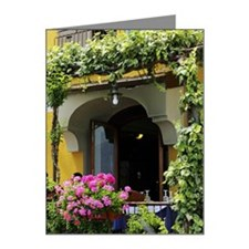 Balcony with flowers and pla Note Cards (Pk of 10)